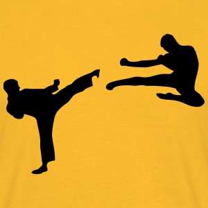 Martial Arts - 2 Fighters T-shirts - T-shirt herr