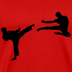 Martial Arts - 2 Fighters T-shirts - Mannen Premium T-shirt