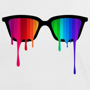 Rainbow - Spectrum (Pride) / Hipster Nerd Glasses T-Shirts - Women's Ringer T-Shirt