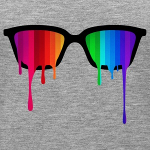 Rainbow - Spectrum (Pride) / Hipster Nerd Glasses Tops - Women's Premium Tank Top