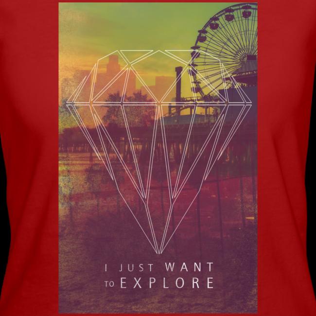Just Explore Hipster Diamond - Frauen Organic T-Shirt