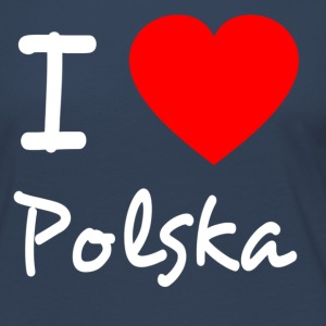 I love Polska Long Sleeve Shirts - Women's Premium Longsleeve Shirt