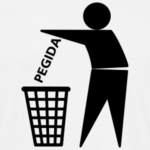 PEGIDA-in-the-Trash T-Shirts - Männer T-Shirt