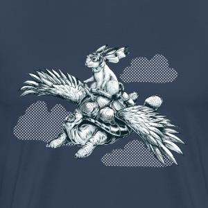 Navy Flying Tortoise T-shirts - Mannen Premium T-shirt