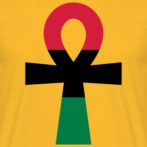 Red, Black & Green Ankh T-Shirts - Men's T-Shirt