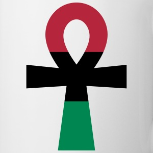 Red, Black & Green Ankh Mugs & Drinkware - Mug