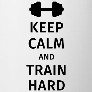 keep calm and train hard Tazze & Accessori - Tazza
