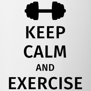 keep calm and exercise Tazze & Accessori - Tazza