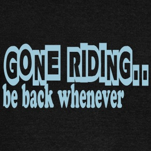 Gone riding -- be back whenever Hoodies & Sweatshirts - Women's Boat Neck Long Sleeve Top