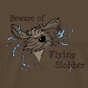 Beware of Flying Slobber - Männer Premium T-Shirt