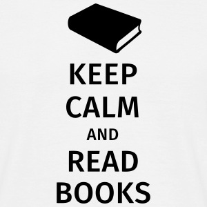 keep calm and read books T-shirts - Herre-T-shirt