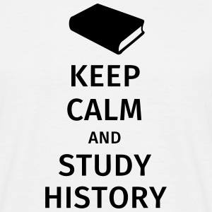 keep calm and study history T-shirts - Mannen T-shirt