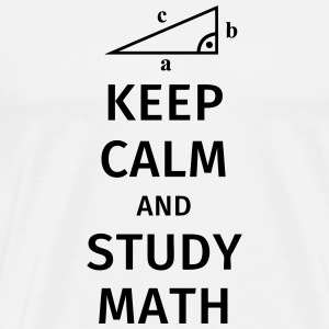 keep calm and study math T-skjorter - Premium T-skjorte for menn