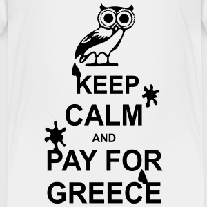 Keep calm and pay for Greece - 1 colour Skjorter - Premium T-skjorte for barn