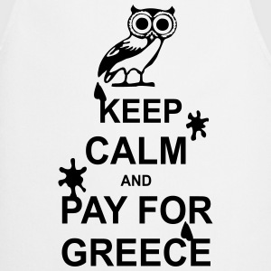 Keep calm and pay for Greece - 1 colour Kookschorten - Keukenschort