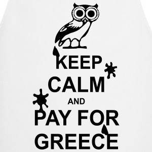 Keep calm and pay for Greece - 1 colour Tabliers - Tablier de cuisine