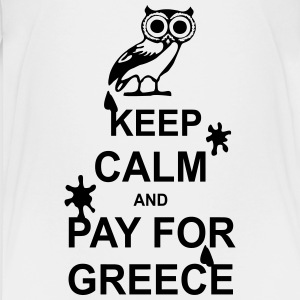 Keep calm and pay for Greece - 1 colour Skjorter - Premium T-skjorte for tenåringer