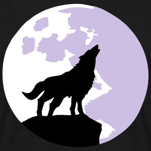 wolf and full moon T-shirts - T-shirt herr