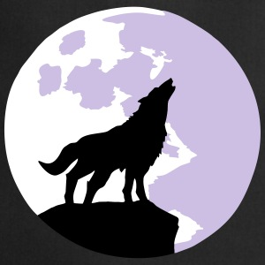 wolf and full moon Delantales - Delantal de cocina