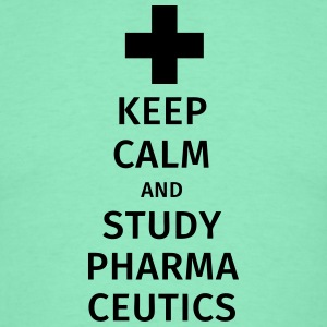keep calm and study pharmaceutics T-skjorter - T-skjorte for menn