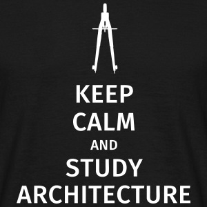 Keep Calm and study architecture Koszulki - Koszulka męska
