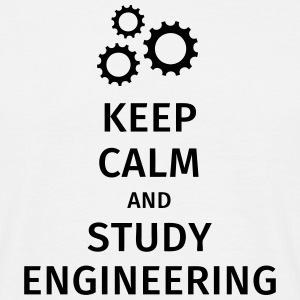keep calm and study engineering T-shirts - Mannen T-shirt
