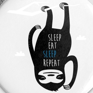 Wit Wit Sleep Eat Sleep Repeat Sloth Overig Buttons - Buttons klein 25 mm