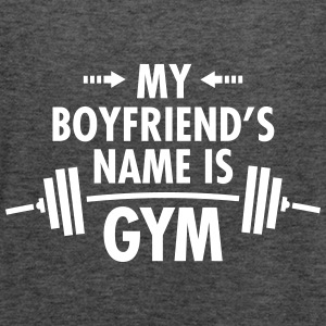 My Boyfriend's Name Is Gym Topy - Tank top damski Bella