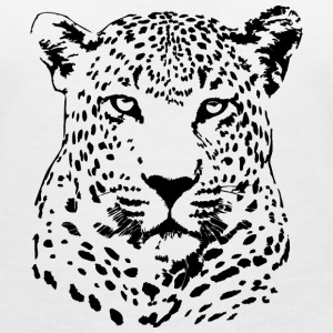 Leopard T-Shirts - Women's V-Neck T-Shirt