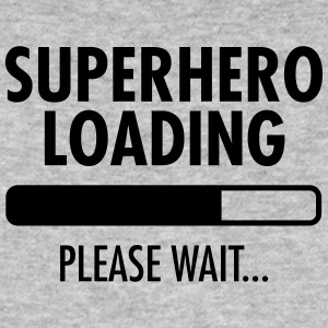 Superhero Loading- Please Wait... Magliette - T-shirt ecologica da uomo
