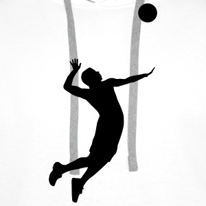 Volleyball, Volleyball Player Sweat-shirts - Sweat-shirt à capuche Premium pour hommes