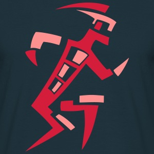 Abstract Walk dreifarbig T-Shirts - Männer T-Shirt