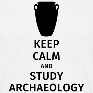 keep calm and study archaeology T-shirts - Mannen T-shirt