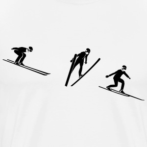 Ski jumper Evolution T-Shirts - Men's Premium T-Shirt