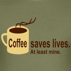 Coffee saves lives T-Shirts - Männer Slim Fit T-Shirt