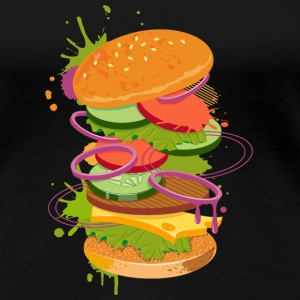 A Burger Graffiti T-Shirts - Women's Premium T-Shirt