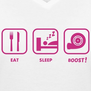 JDM Eat, Sleep, BOOST!  | T-shirts JDM T-shirts - Vrouwen T-shirt met V-hals