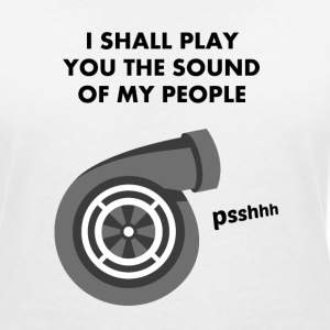 I shall play you the sound of my people - TURBO - T-shirt col V Femme