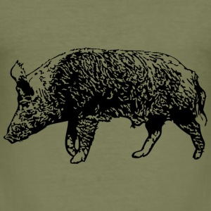 Wild Boar T-Shirts - Men's Slim Fit T-Shirt