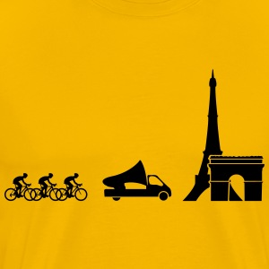 Tour de France Evolution T-skjorter - Premium T-skjorte for menn