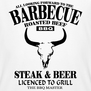 Barbecue - Steak & Beer T-shirts - Mannen Bio-T-shirt