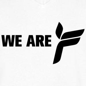 We Are F - Mannen T-shirt met V-hals