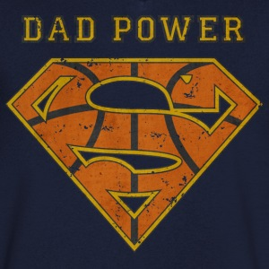 Superman Super Dad Power - T-skjorte med V-utsnitt for menn