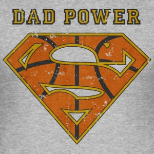 Superman Super Dad Power - Männer Slim Fit T-Shirt