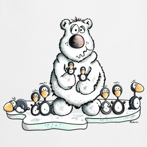 Polar Bear with Penguins  Aprons - Cooking Apron