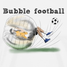 bubble football T-shirts