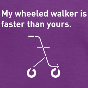 Wheeled Walker - Women's Ringer T-Shirt