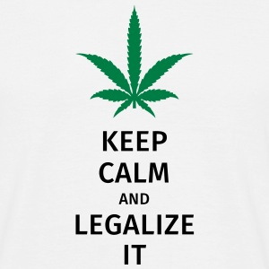 keep calm and legalize it T-skjorter - T-skjorte for menn