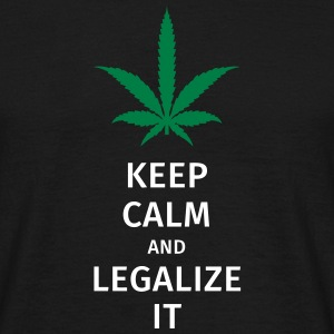 keep calm and legalize it T-Shirts - Männer T-Shirt