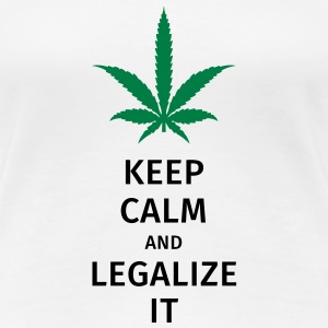 keep calm and legalize it T-shirts - Premium-T-shirt dam